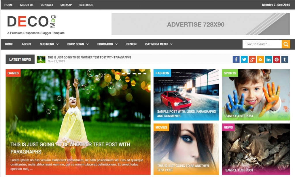blogspot template1