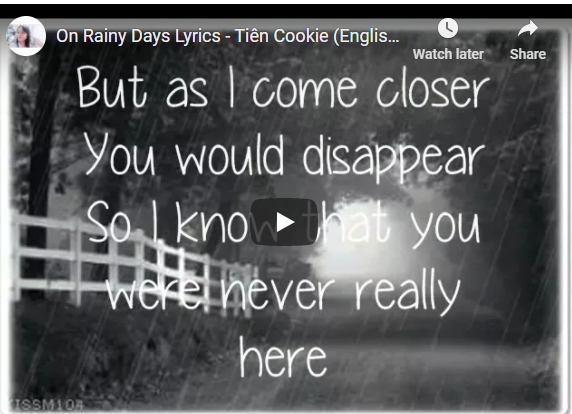 On rainy day tien cookie Xem MV On Rainy day